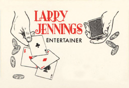 Front of Larry Jennings Business Card