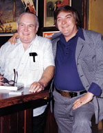 Legendary bar magician, Frank Shields, with Larry Jennings.