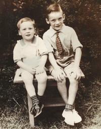 Larry with his brother Jerry