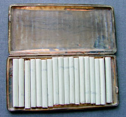 Inside the case, Larry kept Michael Skinner's cigarettes.